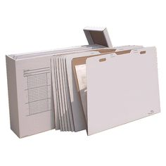 Providing a convenient place for all your papers, this cardboard file storage box holds 24 paper folders and 840 sheets of paper. This storage box takes up a small amount of space and holds all of your important documents in one place.