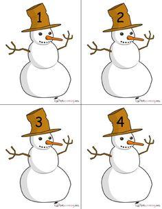 Winter Activities For Kids, Winter Crafts For Kids, Math For Kids, Winter Fun, Christmas Activities, Numbers Preschool, Preschool Crafts, Montessori Activities, Kindergarten Activities