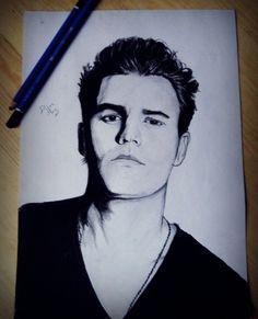 Paul Wesley, Vampire Diaries, drawing
