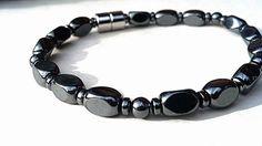 MENS Magnetic Bracelet therapy Unisex Hematite EXTREME Strength Magnetic Custom Sized Men women, pet jewelry Wellness Health @Eileen Dickerson