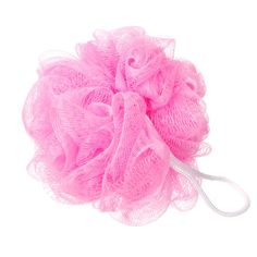 Step 2c:  Of course, he can't use that nice new girly body wash with his hands, or an old wash cloth!  He needs his very own, bright pink, bath loofa.  It's good for his skin and rubbing that pink ball of femininity all over his body is sure to remind him of his new place in life.