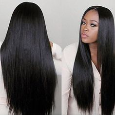 "Full Lace Wig 16"" Brazilian Virgin Human Hair Glueless Straight Hair With Baby Hair For Black Women,JFW0015"
