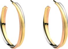 CRB8020000 - Trinity de Cartier earrings - White gold, yellow gold, pink gold - Cartier