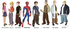 Spectacular Spider-Man character line up