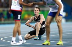 William Stedman of New Zealand recovers after competing in the Men's 800m T36 final on day 10 of the Rio 2016 Paralympic Games at Pontal on September 17, 2016 in Rio de Janeiro, Brazil.