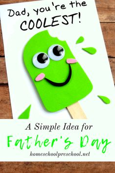 Kids Fathers Day Crafts, Fathers Day Art, Gifts For Kids, Fathers Day Ideas, Free Fathers Day Cards, Fathers Day Gifts, Fathers Day Cards Handmade, Handmade Cards, Diy Father's Day Gifts