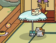 Peaches! Cute App, Neko Atsume, Cat Things, Kitty Cats, Catwoman, Peaches, Random, Animals, Gatos