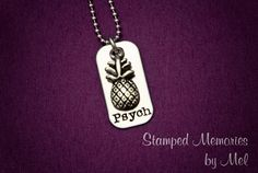 Psych  Hand Stamped Stainless Steel by StampedMemoriesbyMel, $25.00 - totally could make this on my own