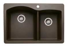 Blanco 440213 Diamond 1-3/4 Bowl Silgranit II Drop-In Kitchen Sink - Cafe Brown - Faucet Depot