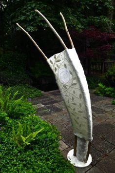 sculpture and wall art - Laurie Steffler, Feltscapes Design, saltspringfiberadventures