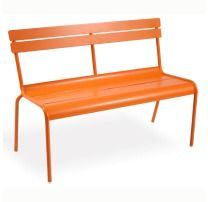 Fermob Luxembourg Bench with Backrest | frenchbistrofurniture.com