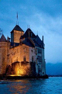 Castle of Chillon, Geneva, Switzerland (by izahorsky on Flickr) | sublimevacation.comsublimevacation.com