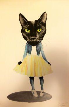 Ilustraciones de Jimbobart la niña gato xD