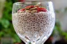 "Chia seeds have been a staple in Mayan and Aztec diets for centuries. The ancient civilizations believed that the chia seed provided supernatural powers. In Mayan, ""chia"" means ""strength. Coconut Chia Seed Pudding, Coconut Milk, Berry, Banana Drinks, Soy Products, Chia Seeds, Superfoods, Fresh Fruit, Metabolism"