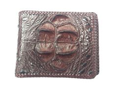 NEW GENUINE 100 % CROCODILE ALLIGATOR HORNBACK LEATHER HARD ROCK HANDMADE BROWN BIFOLD WALLET ** Check this awesome product by going to the link at the image.