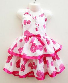 LL217_F Girls 2-6x Cotton Dress