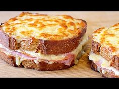 Croque monsieur sandwich - Easy and rich recipe - Recipes Tee Sandwiches, Gourmet Sandwiches, Healthy Sandwiches, Sandwiches For Lunch, Breakfast Sandwiches, Mozzarella Sandwich, Grilled Sandwich, Croque Monsier, Sandwiches Gourmets