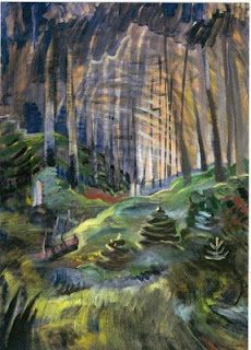 Deep Woods (Art Gallery of Greater Victoria) Emily Carr Tom Thomson, Canadian Painters, Canadian Artists, English Artists, Landscape Art, Landscape Paintings, Canvas Paintings, Landscapes, Emily Carr Paintings