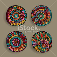 Set of floral design elements Royalty Free Stock Vector Art Illustration