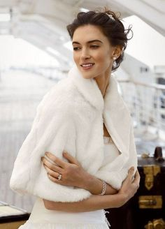 Capes, Sleeves, Gloves, options to stay warm for wall or winter wedding!