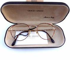 8bb2aa6776 Giorgio Armani Occhiali 169 750 Tortoise Wire Eyeglasses Frames 50-20-140mm   GiorgioArmani. Mistress Of Shopping