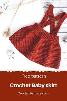 Crochet Baby Dress Free Pattern, Skirt Pattern Free, Crochet Romper, Bag Crochet, Baby Girl Crochet, Crochet Baby Clothes, Crochet Baby Stuff, Free Easy Crochet Patterns, Crochet Baby Bikini