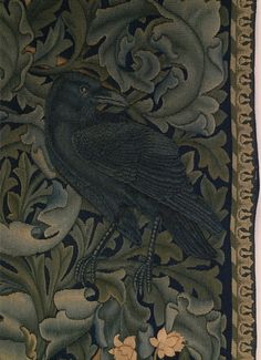 The Forest Tapestry (detail) William Morris Crow Art, Raven Art, Bird Art, William Morris Patterns, William Morris Art, Art Nouveau, Art Deco, Textiles, Dragons
