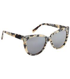 Prism cream and black tortoise acetate Moscow sunglasses.