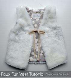 Elegance & Elephants: Faux Fur Vest Tutorial