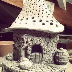 Resultado de imagen de ceramic fairy houses