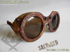 Post Apocalypse goggles. SALVAGED Ware enquiries always welcome @ www.markcordory.com