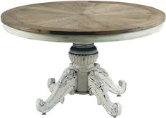 Occa-Home Occa Vintage Furniture Antique Cream Dining Table - S
