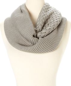 Look at this Gray Multi-Knit Infinity Scarf on #zulily today!