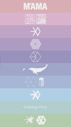 Exo logos yeesss ❤ I feel so old rn lol. Kpop Exo, Exo Chanyeol, Exo Ot12, Kaisoo, Exo Png, L Wallpaper, Exo Anime, Fandom Kpop, Exo Group