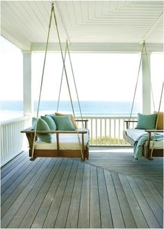 perfect beach house porch swing