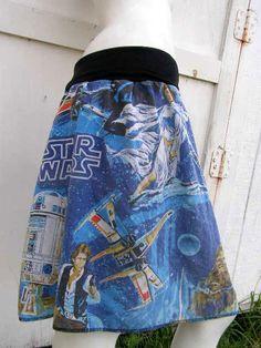 STAR Wars A New HOPE Skirt shirt  Chewbaka DiY by thegeekgarden, $36.00