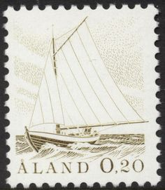 "Åland 20p 1984 ""Sailing Boat"" [Facit 1, Mi 1, AFA 1, SG 2, SC 2]"
