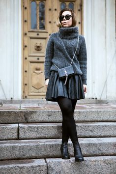 chunky-sweater-and-skirt
