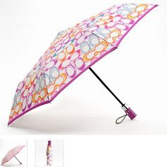 Coach Signature Stripe Scribble Umbrella . Starting at $12 on Tophatter.com! Great Gift Idea!