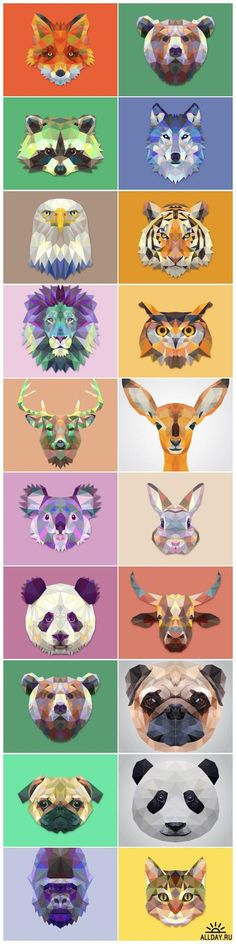 Polygonal animals                                                                                                                                                     More                                                                                                                                                                                 Más