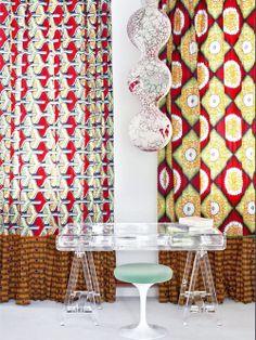 salon avec rideaux wax   home decoration   Pinterest   Decor, Home