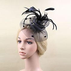 Women+Feather/Net+Fashion+Flowers+With+Wedding/Party+Headpiece(More+Colors)+–+GBP+£+17.60