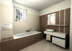 Bathroom in Domus3D Antares, tiles MUSIS Bambu