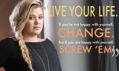 """Kelly had this advice to give: 