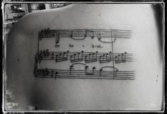 """""""Unlimited"""" music excerpt from Wicked the musical. tattoo artist: Colby FayheeFadz Westside Tattoo and PiercingMacomb, IL"""