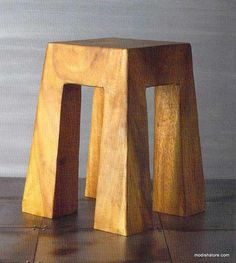Roost Acacia Wood Stool - Flat Top