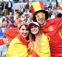 #EURO2016 Fans support their team prior to the UEFA Euro 2016 round of 16 football match between Italy and Spain at Stade de France in Paris France on June 27...