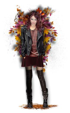 """""""Amber"""" by mrsgena ❤ liked on Polyvore featuring art, leatherjacket and autumn"""