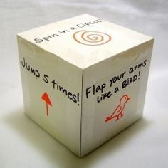 "Fitness ""dice"" game for kids"