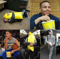 Stephen Curry loves his popcorn...